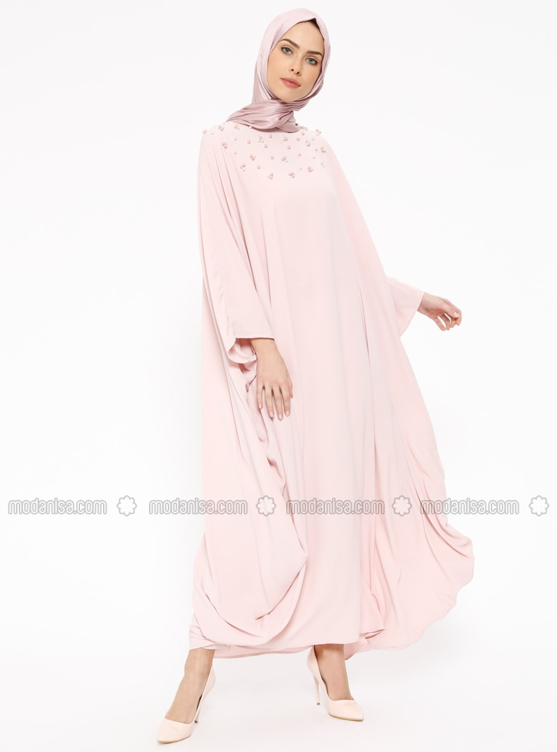 Powder - Unlined - Crew neck - Abaya