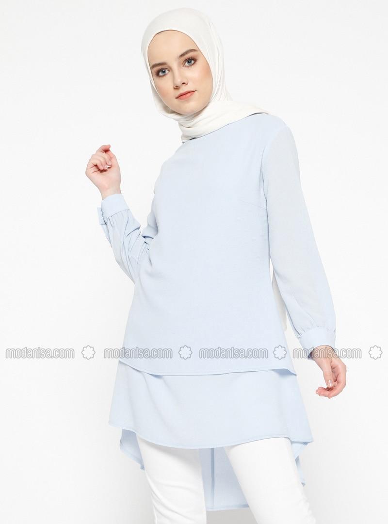 Blue - Polo neck - Tunic