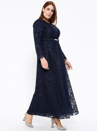 Navy Blue Muslim Plus Size Evening Dresses - Shop Women\'s Muslim ...