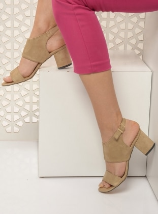 Beige – Sandal – Shoes – Shoestime