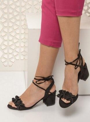 Black – High Heel – Sandal – Shoes – Shoestime