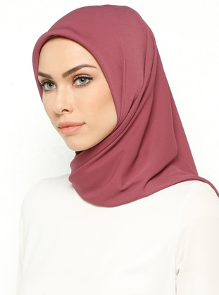 Pink - Plain - Crepe - Scarf - Mısırlı