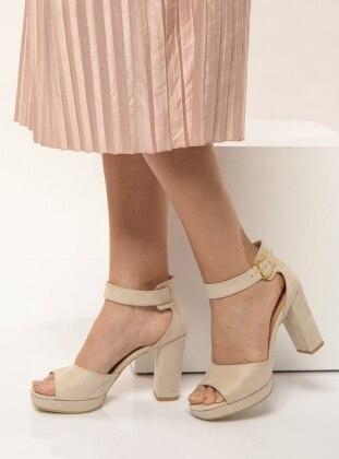 Beige – High Heel – Shoes – Shoestime