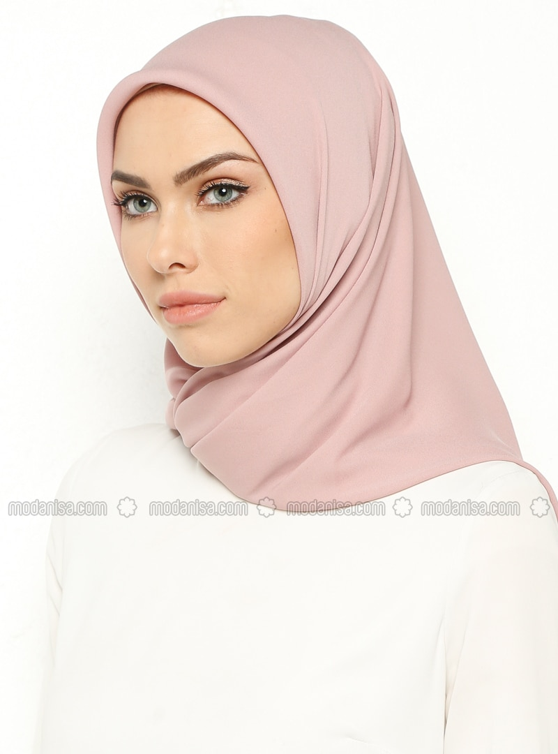 Powder - Plain - Crepe - Scarf