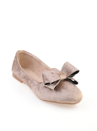 Beige – Flat – Flat Shoes – Bambi
