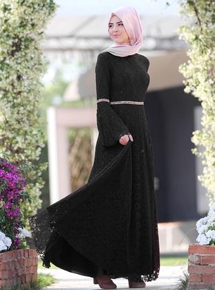 Black - Ecru - Fully Lined - Black - Fully Lined - Dress