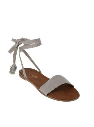 Beige – Flat – Sandal – Bambi
