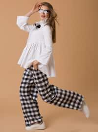 Ekose Pantolon - Siyah Beyaz - JAQAR