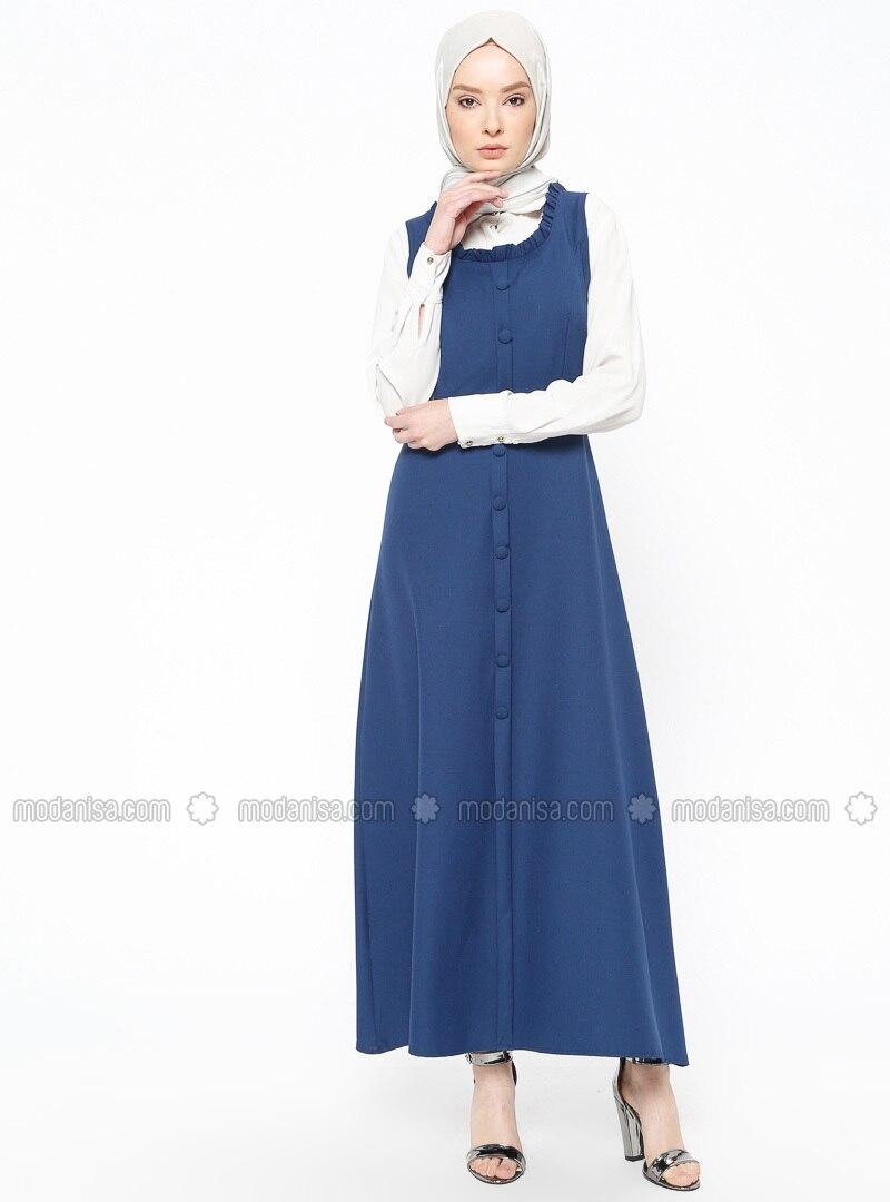 Indigo - Crew neck - Unlined - Dresses