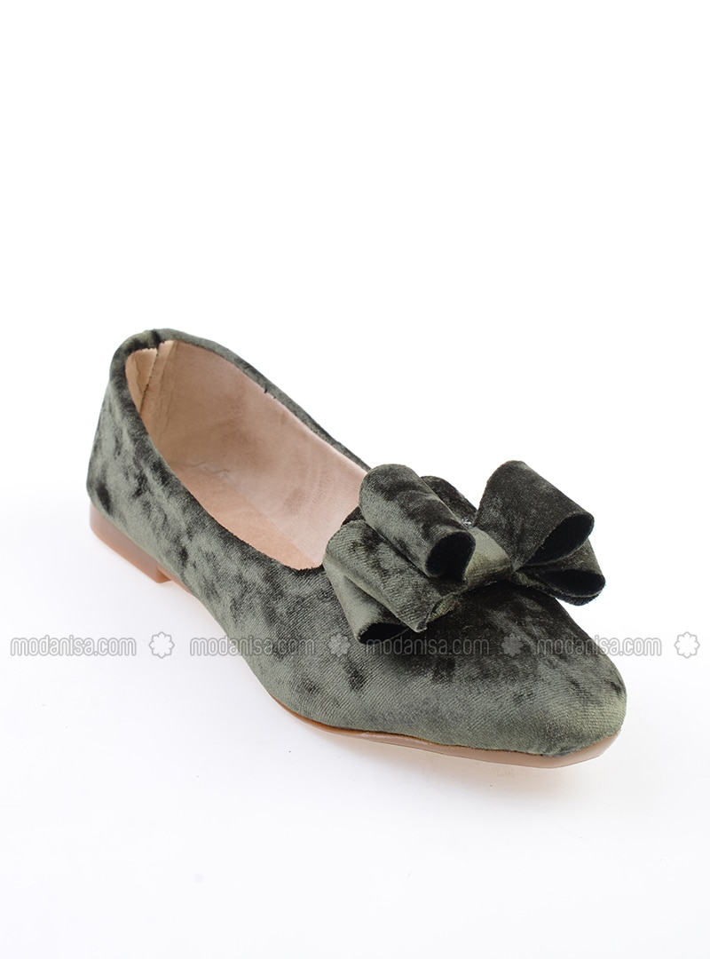 Khaki - Flat - Flat Shoes