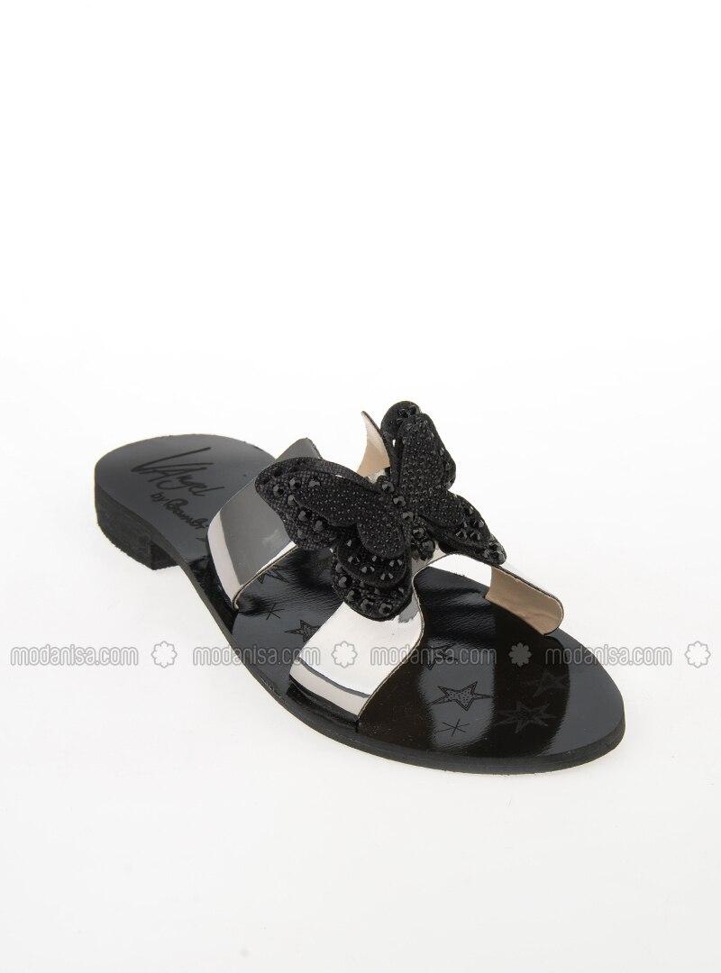 Black - Gray - Sandal - Slippers