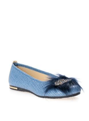 Ayakkabı Modası Babet - Mavi - BFGMODA
