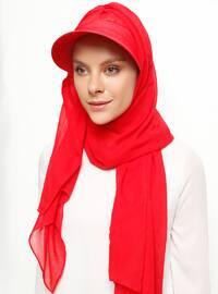 Şapka Şal - Kırmızı - Tulipa Turban