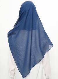 Navy Blue - Plain - Instant Scarf