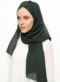 Green - Plain - Instant Scarf