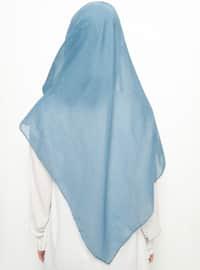 Blue - Plain - Instant Scarf