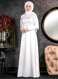 Nağme Abiye Elbise - Beyaz - An-Nahar