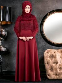 Nağme Abiye Elbise - Bordo - An-Nahar