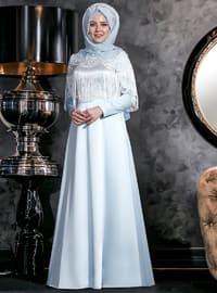 Nağme Abiye Elbise - Bebe Mavi - An-Nahar