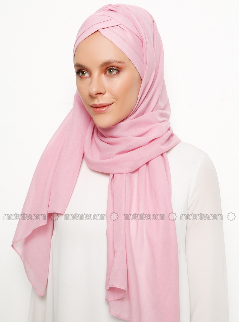 Pink - Plain - Instant Scarf