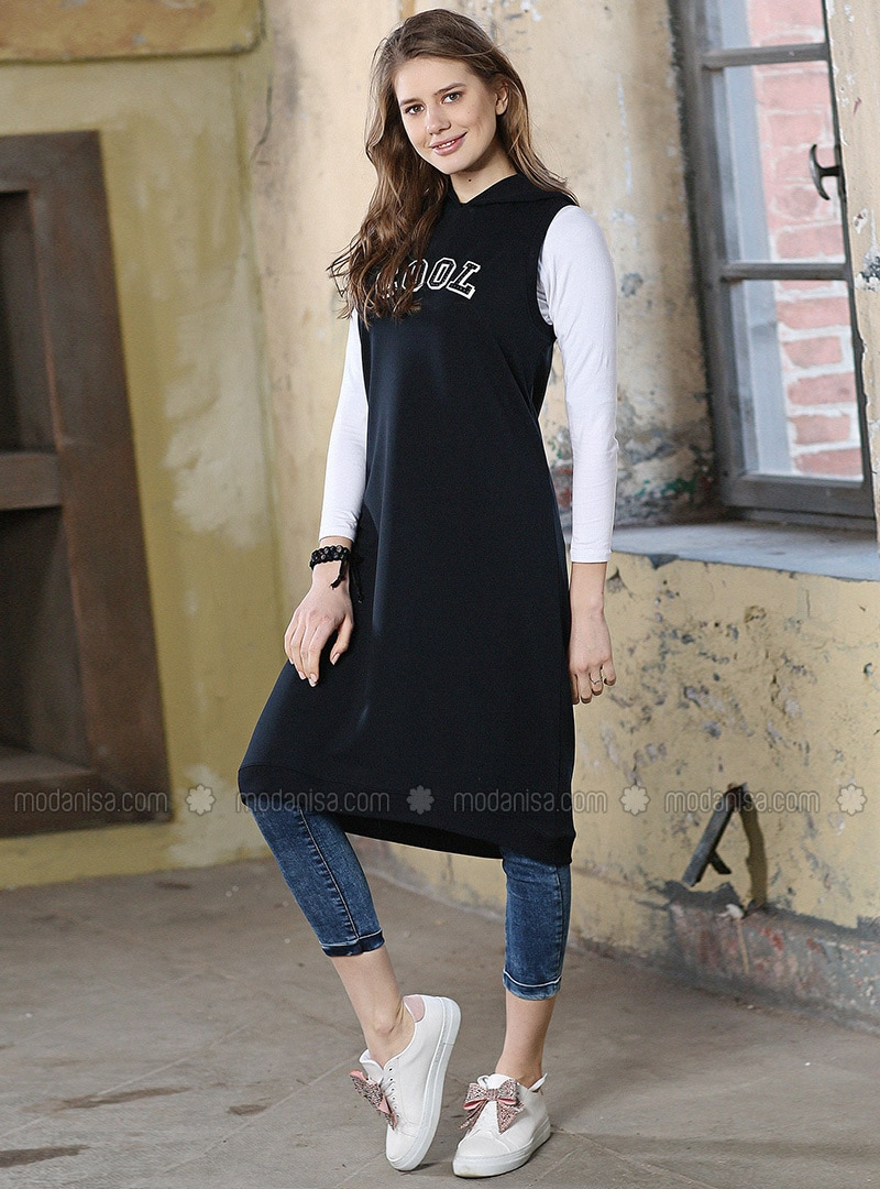 Navy Blue - Tunic