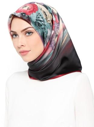 desenli eşarp - karışık renkli - karaca eşarp