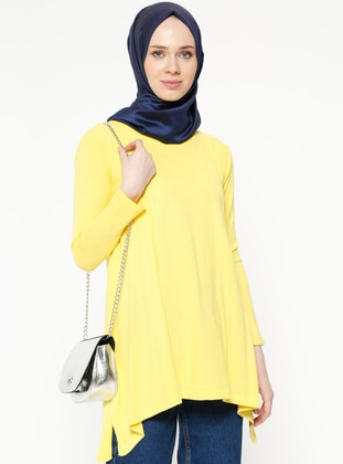 Yellow - Crew neck - Jumper