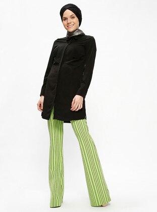 Green - Stripe - Pants