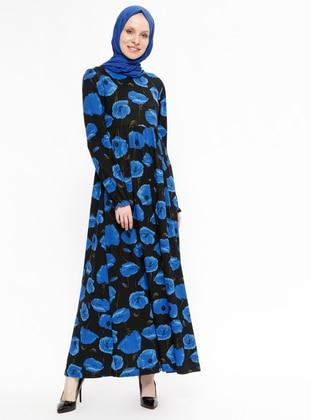 Saxe - Floral - Crew neck - Unlined - Dresses