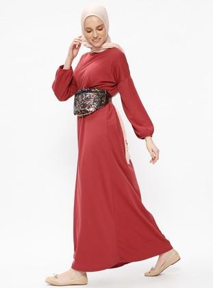 Pink - Crew neck - Unlined - Dresses - Dadali 443366
