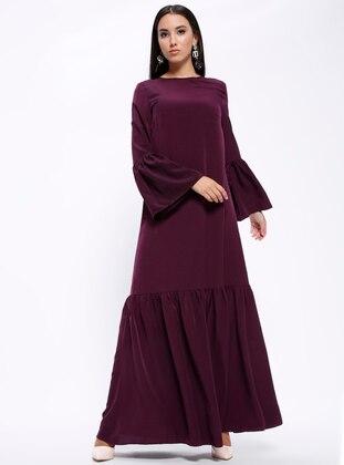 92e01b05e برقوقي - قبة مدورة - نسيج غير مبطن - فستان