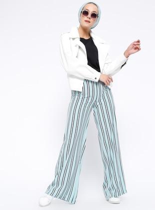 Mint - Stripe - Viscose - Pants
