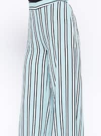 Mint - Stripe - Viscose - Pants