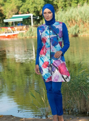 Saxe - Multi - Fully Covered Swimsuits