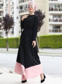 Pink - Crew neck - Unlined - Dresses