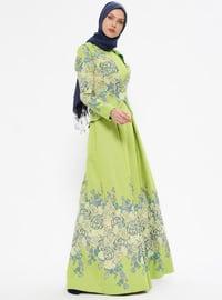 Kolsuz Elbise&Ceket Abiye Takım - Yeşil - Mileny