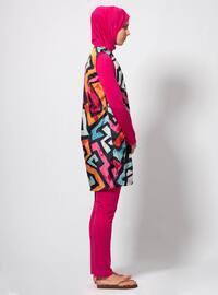 Fuchsia - Multi - Fully Covered Swimsuits
