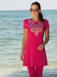 Fuchsia - Half Covered Switsuits