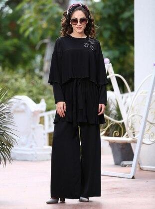 Tunik&Pantolon İkili Takım - Siyah - Minel Aşk Ürün Resmi