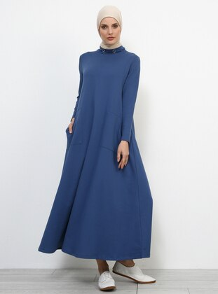 Indigo - Polo neck - Unlined - Dresses