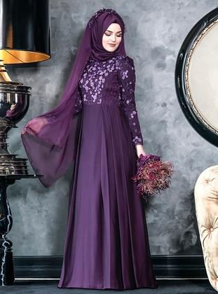 Ela Abiye Elbise - Mor - An-Nahar Ürün Resmi