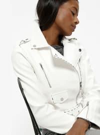 Kısa Ceket - Beyaz - Koton