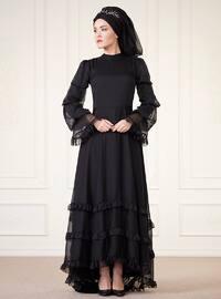 Açelya Abiye Elbise - Siyah - An-Nahar