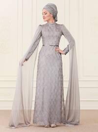 Behra Abiye Elbise - Gri - An-Nahar