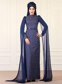 Behra Abiye Elbise - Lacivert - An-Nahar