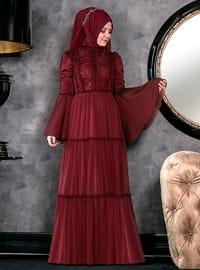 Hadra Abiye Elbise - Bordo - An-Nahar