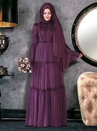 Hadra Abiye Elbise - Mor - An-Nahar