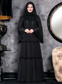 Hadra Abiye Elbise - Siyah - An-Nahar