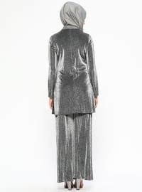 Black - Fully Lined - Viscose - Suit