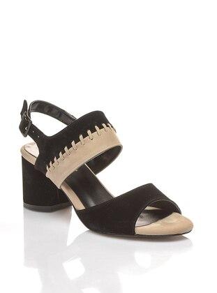 Black – Beige – High Heel – Shoes – Shoestime